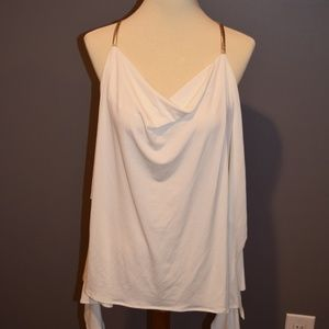 Express White and Gold Halter